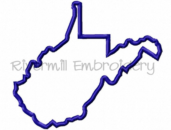 state of west virginia applique machine embroidery design 4