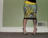 Iron Maiden - Eddie - Pencil Skirt
