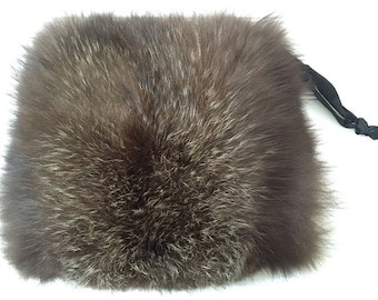 Real Fur Muff - Vintage Fur Muff - Real Raccoon Fur - Nordic Winter - Hand and Arm Warmer