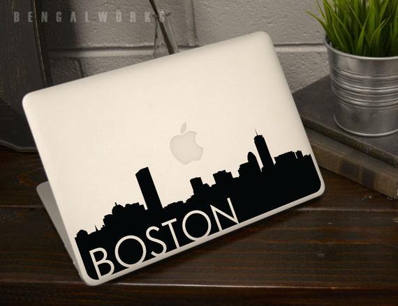 Boston Skyline Macbook Decal 3 | Macbook Sticker | Laptop Decal | Laptop Sticker | Car Sticker