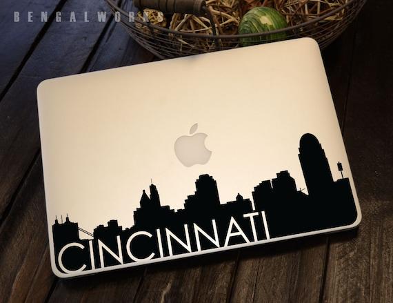 Cincinnati Skyline Macbook Decal 3 | Macbook Sticker | Laptop Decal | Laptop Sticker | Car Sticker