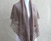 Knitted shawl pattern Freesia shawl Lace shawl beige shawl, tutorial, pattern, PDF