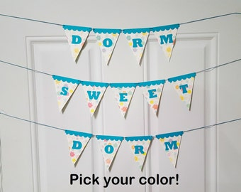 Dorm Sweet Dorm Banner, Dorm Decor, Dorm Room Decor, Dorm Banner, Dorm Props, College Dorm Decors, College Garland, Wall Banner, Dorm Living