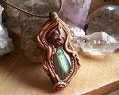 labradorite fairy elven crystal spirit pendant