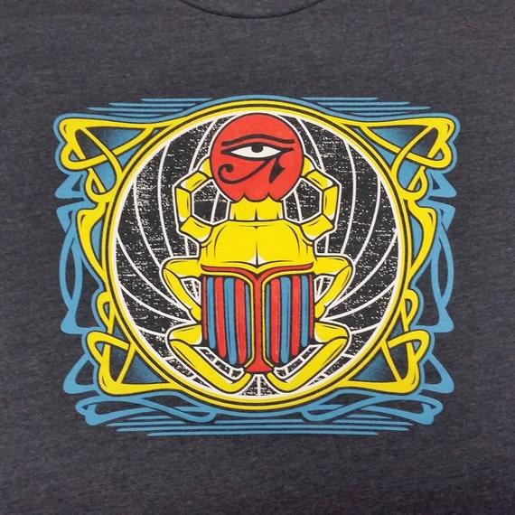 Franklin's Tower scarab lyric tee shirt - Grateful Dead, Jerry Garcia, Furthur, Phish, hippie, tour merch