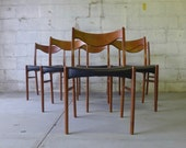 DANISH Mid Century MODERN Rosewood DINING Chairs Set/6