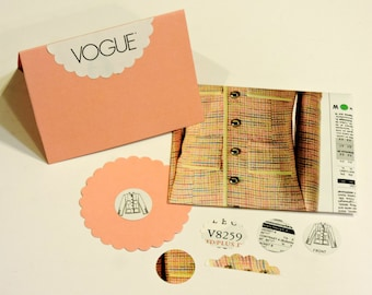 Vogue Note Card Set, Spring Fashion Jacket Envelope, Unique Seamstress Card, Mothers Day Greeting Card, Novelty Art Notecard itsyourcountry