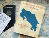Costa Rica Memory Box, Travel Box, Gift for Travel bloggers, Custom travel box, Destination wedding box, Under 100, Valentines Gift Box