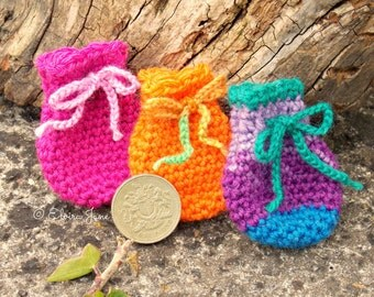 UK Crochet Pattern for Tooth Fairy Bag
