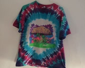 Shroomarama Tie Dye Tee Shirt Drugs Mushrooms Demons and Freaky Bible Quote vintage Tshirt Trippy Psychedelic Stoner