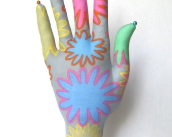 Mod Posies Fabric Hand Jewelry Organizer POPULAR Style HAND-Stand