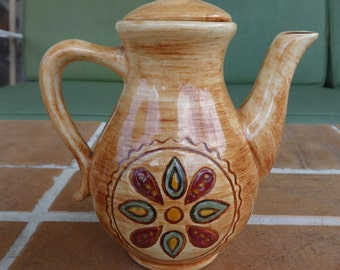 vintage Pennsbury Pottery Penna Hex two cup coffee pot Morrisville Pa art dutch