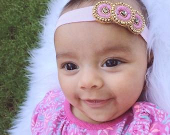 Baby Headbands - You pick 1 Desi Headband - Newborn Photo Shoot - Baby Girl Headbands - Baby Hair Accessories - Baby Hairbows - Baby Bows
