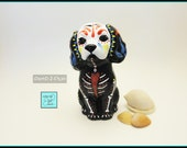 Day of the Dead Statue Puppy Figurine DOTD2