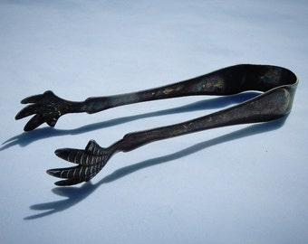 Silver Plated Vintage Ice Tongs