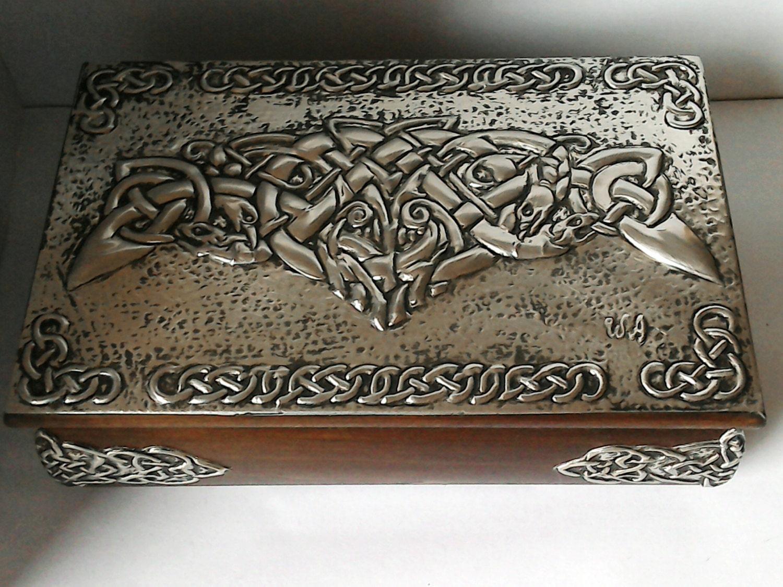 celtic jewelry boxwooden boxceltic boxjewelry box storage