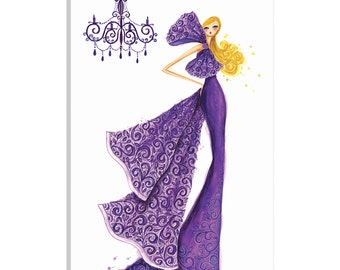 iCanvas Couture Lace Gallery Wrapped Canvas Art Print by Bella Pilar