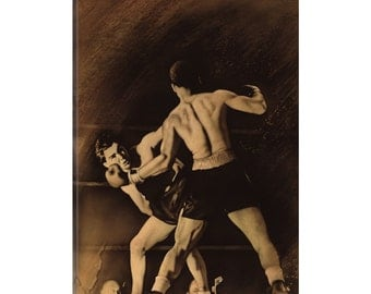 iCanvas The Boxing Match Gallery Wrapped Canvas Art Print by Rob Johnson