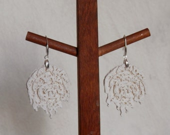 exlusive design ECO natural style earring 925 sterling silver and eco-ceramics hand made