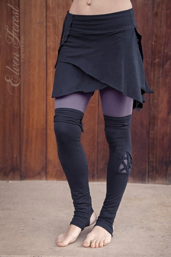 Triangle Cut Out Leg Warmers Great Over Leggings