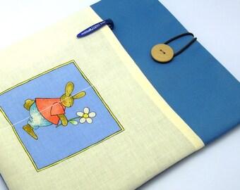 SALE - iPad Air case, iPad cover, iPad sleeve with 2 pockets, PADDED - Bunny (83)