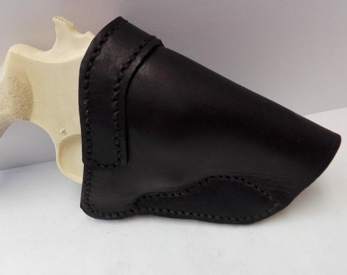 leather holster, custom made leather holster. brown leather holster, J frame holster. Smith & Wesson holster. hand gun holster  .  120db