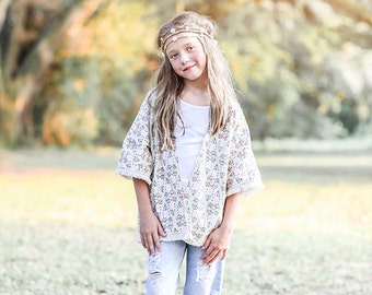 NEW: Giselle Kids Kimono PDF Pattern & Tutorial, All sizes 2-10 years included