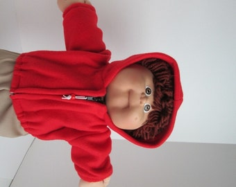"""16"""" Boy Cabbage Patch Red Hooded Jacket"""