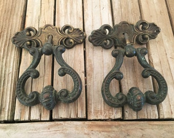 Vintage Set of Antique Iron Knobs