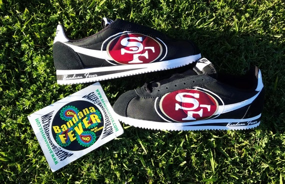 f7feb044 free shipping Nike San Francisco 49ers Cortez Nylon by BandanaFeverDesigns