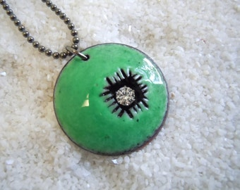 Green Dome Necklace Artisan Jewelry