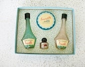 Vintage Holiday Gift Box Irresistible Perfume Powder Set Fragrance 1950s
