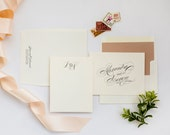 Lovely in Lux Couple's Stationery