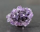 Amethyst Rose Cluster, Purple, Semitransparent Stalactite Button Flatback Cluster Centerpiece Jewelry Metaphysical Beginner Tutorial