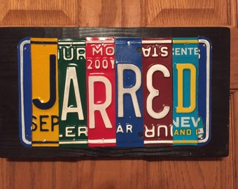 License Plate Name Sign