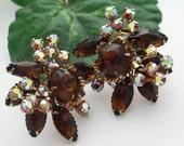 Vintage Rhinestones Earrings in the Style of Juliana 1950s Jewelry
