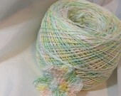 Crochet Cotton - Hand Dyed - Size 10 - Spring Pastel - Sample Size - 10, 25 or 50 Yards - LIMITED AMOUNTS
