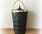 Vintage Ice Bucket Mid Century Barware Lustro Ware