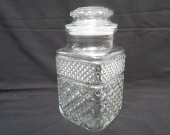 Anchor Hocking Large Decorative Jar or Pipe Tobacco Humidor