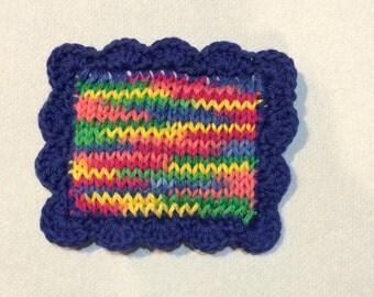 Scrubbie / Knit Dishcloth / Pot Scrubber / Dish Scrubbie /Knitted DishCloth / Sponge / Nylon Scrubbie / Scrubber / Rainbow
