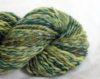 Handspun Yarn Finger/Sport Weight - Greenery