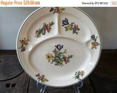 Vintage floral Booth china plates set of 2 circa 1920