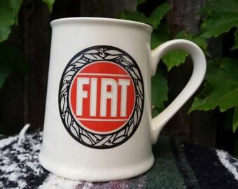Vintage 1980's Giant Fiat Coffee Mug
