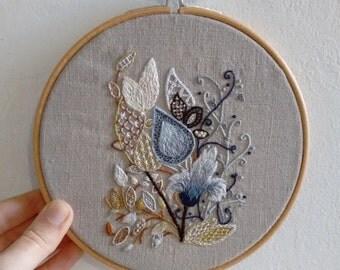 Jacobean Crewel - Hoop Embroidery Art