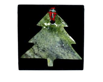 Handcrafted Connemara Marble Christmas Ornament (Christmas Tree)