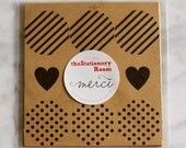 Patterned Kraft Paper Seal Stickers - 3cm round Label Sticker Seals - 45 Seals (3 patterns)