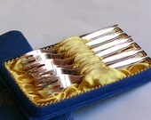 Antique Dessert Forks Set of 6  Silverplate German - Franz Widmann and John Munchen - Lovely Classic Shape - Excellent Condition