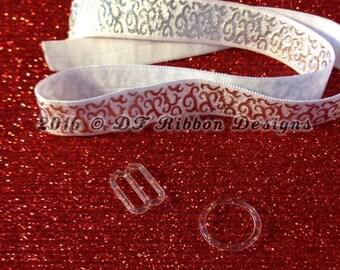 "Clear 5/8"" Bra Slides - DIY Baby Headband - Adjustable Headbands - Planner Bands - 10 sets - 50 sets - 100 sets"