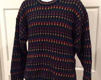 Vintage 80s 90s Sweater - ETCHINGS - L