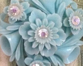 Blue Celluloid Earrings